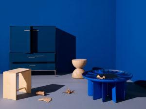 Icon Design Wood Blue